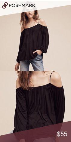 🌺Spring Sale🌺Anthropologie Open-Shoulder Top Cute top - super soft Anthropologie Tops Tees - Long Sleeve