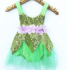 Green Sparkle Fairy Sparkle Romper Green Fairy Costume - Belle Threads