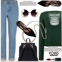 green sweater by paculi on Polyvore featuring polyvore, fashion, style, Steve Madden, MAC Cosmetics, women's clothing, women's fashion, women, female and woman