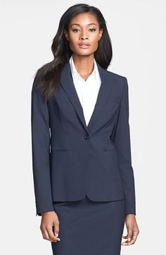 BOSS 'Juicy 6' Stretch Wool Jacket and skirt for about $860 available at #Nordstrom