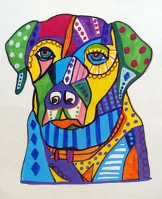 Very cool dog paintings!