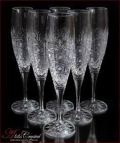 «Aleks-Crystal.com» - Bohemia crystal Champagne glasses! Bohemia Crystal, Bohemia Glass, Crystal Glassware, Crystal Vase, Crystal Champagne, Champagne Glasses, Modern Hippie Style, Fenton Milk Glass, Steam Punk Jewelry