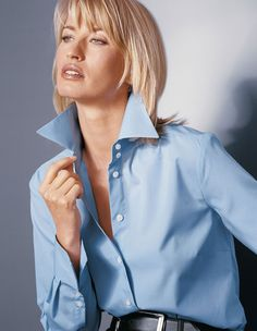High Collar Shirts, High Collar Blouse, Popped Collar, Jeans, Short Gowns, Page Boy, Business Look, Women Lifestyle, White Shirts