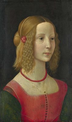 Portrait of a Girl Workshop of Domenico Ghirlandaio probably about 1490. National Gallery, London