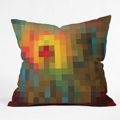 Madart Inc. Glorious Colors Throw Pillow | DENY Designs Home Accessories