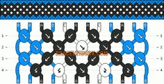 Normal Friendship Bracelet Pattern #4186 - BraceletBook.com