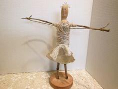 decorative art doll outsider art folk art twig doll by AgoVintage