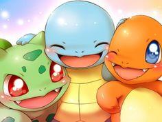The trio!!  Bulbasaur, Squirtle and Charmandar!!