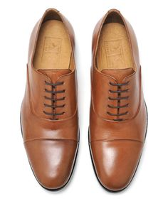 Pair of Kings Cognac Pure Nuts Leather Oxford | zulily