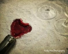 Wine Heart Photograph Photo - Love, sand, beach, merlot, red wine, romantic - Merlot Love - 8 x 10 Fine Art Print