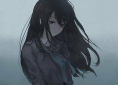 Im the stupid one here. Sad Anime Girl, Pretty Anime Girl, Beautiful Anime Girl, Anime Art Girl, Manga Art, Anime Girls, Anime Oc, Chica Anime Manga, Anime Neko