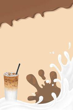 Pearl Milk Tea Plus Fruit Drink Poster Refreshing Drinks, Fun Drinks, Tea Wallpaper, Brown Wallpaper, Tea Display, Pearl Tea, Tea Illustration, Bubble Milk Tea, Milk Splash
