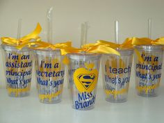 I teach/principal/secretary, etc - what& your superpower? Done in school colors or any color combo Pta School, Sunday School Teacher, School Gifts, Principal Appreciation, Teacher Appreciation Week, Teacher Gifts, Secretary Gifts, School Secretary, Secretary's Day