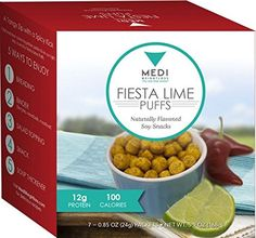 MediWeightloss Fiesta Lime Puffs Protein Snacks  High Protein 12g  100 Calories  7 Packs Per Box ** Want additional info? Click on the image.