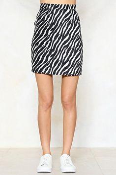 Wild Streak Zebra Skirt