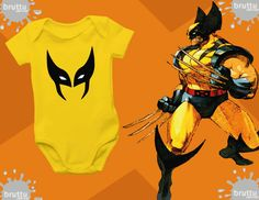 Na BABY BRUTTU você encontra body do Wolverine, Laterna Verde, Capitão América, Batman, Robin e outros super-heróis.