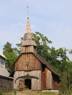 Estonia. Ruhnu Church. One of the main highlights of Ruhnu is the old wooden church which dates from 1644 and is one of the oldest remaining wooden churches in Europe.