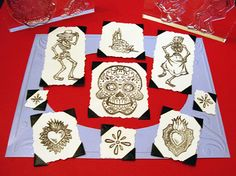 Day of the Dead Set Clear Polymer Rubber by BlueDiamondStamps, $24.00