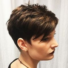 Beautiful tone on tone hair color and pixie cut on Alyssa (Cut and color by Robin!) #DJW