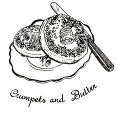 Jill Tytherleigh Illustration - Crumpets & Butter
