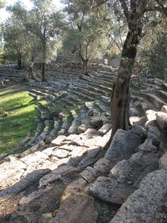 ancient amphitheater in Turkey