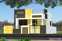 Ground Floor First Floor Front Elevation.Modern Double Floor House Front Elevation Plans And . Modern Beautiful Home Kerala Home Design And Floor Plans. Home Plan And Elevation 2430 Sq Ft Kerala Home Design . Home and Family Single Floor House Design, House Front Design, Cool House Designs, Modern House Design, Front Elevation Designs, House Elevation, Architecture Résidentielle, Cultural Architecture, Independent House