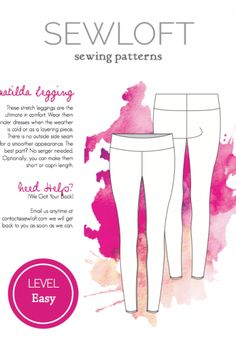 Sewloft Matilda Leggings - free pattern