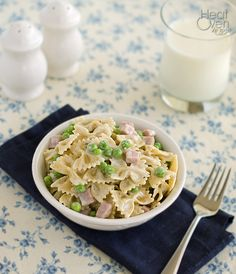 Heat Oven to 350: Creamy Pasta with Peas and Ham