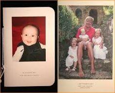 Bedankje nav de geboorte van Ariane, met voor mij onbekende foto van het gezin in Tavernelle.