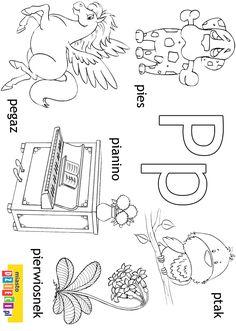 Alfabet, litera P jak piękny obrazek do pomalowana. Wśród naszych darmowych kolorowanek online znajdziecie obrazki z literami alfabetu. Wystarczy wydrukować Polish Alphabet, Polish Language, Montessori, Puzzle, Education, Full Bed Loft, Speech Language Therapy, Cuba, Puzzles