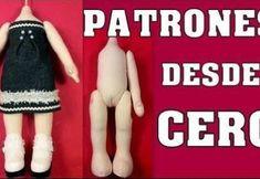 Patrón de muñeca desde cero Doll Patterns Free, Baby Dress Patterns, Crochet Diy, Crochet Bikini, Recycle Jeans, Doll Tutorial, Crochet Doll Pattern, New Year Gifts, Crochet Slippers