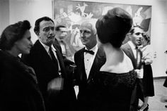 Museum of Modern Art. Opening of a Retrospective of Max ERNST works; here in company with Salvador DALI and his wife Gala.