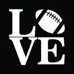 Love Football Decal - Vinyl Decal for Car Window, Locker, Laptop, and Football Cheer, Football Shirts, Football Moms, Football Banner, Football Season, Football Players, Vinyl Crafts, Vinyl Projects, Wood Crafts