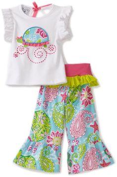 Mud Pie Baby-girls Newborn Lily Pad Turtle Top and Yoga Pant $29.99 - $34.99
