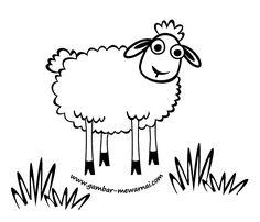 Gambar Mewarnai Hewan Ternak Domba
