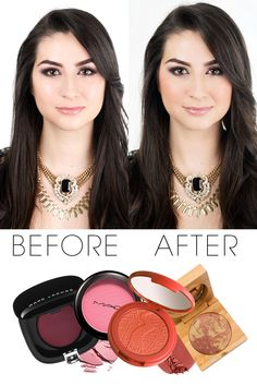 How to Apply Blush based on the blush color (pink, peach, and beige). Very useful tips!