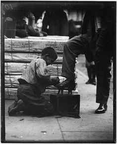 Bowery bootblack. New York City, June 1910   by The U.S. National Archives