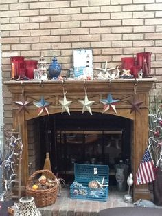 Summer mantle for the fireplace in my house