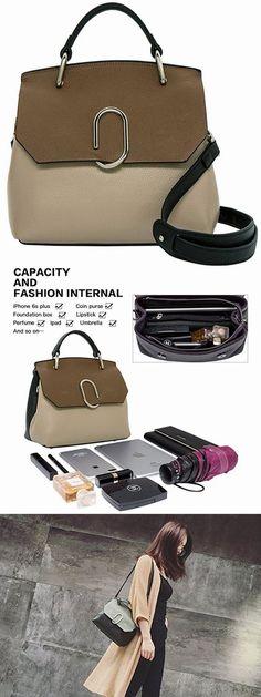 Women Bags Designer Leather Panelled Cover Soft Luxury Shoulder Bags #Handbag Evening Gift on bagail.com