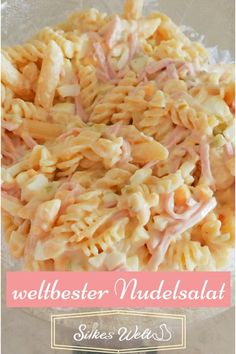 "der weltbeste Nudelsalat, ideales Rezept für jede Party Pasta salad The best pasta salad spicy, ideal as a barbecueThe BEST Ramen Pasta Salad you've ever tasted! geMediterranean Pasta Salad – THE title recipe from ""Nud Lettuce Salad Recipes, Pasta Salad Recipes, Recipe Pasta, Best Pasta Salad, Greek Salad, Grilling Recipes, Macaroni And Cheese, Food And Drink, Dinner Recipes"