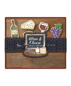 Another great find on #zulily! Wine & Cheese Cookie Cutter Set #zulilyfinds