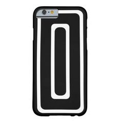 Black & White Repeating Rectangles iPhone 6 Case