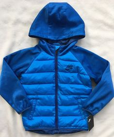 78565e7e9405 Details about Nike Boys Obsidian Size 4 Sportswear Therma Fleece Jacket  80  NWT  86B910-695