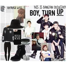 Bangtan! by yukyum on Polyvore featuring beauty, Maison Michel, (+) PEOPLE, Oris, blackandwhite, bts, BangtanBoys and bangtan