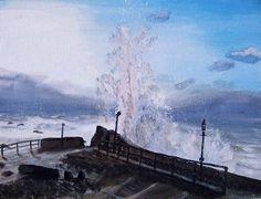 Seaside Storm big waves Original painting on by MarisaOriginalArt, £20.00