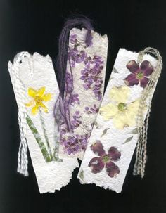 Luann Vermillion - Handmade paper & flower bookmarks