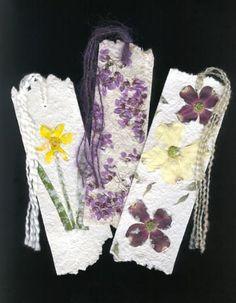 Luann Vermillion - Handmade paper & flower bookmarks