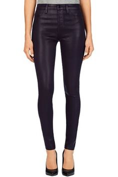 , JBRN-4196 23001 Lacquered Maria in Lacquered Blackberry, jbrandjeans.com