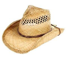 28c6416543d3e Crushable   Vented Shady Brady Straw Hat. Rocky Top Leather · Straw Cowboy  Hats
