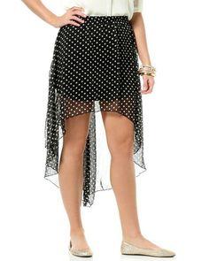 Polka-dot High-low skirt @rue21